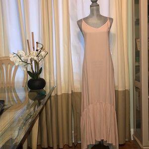May & Maya Boho Blush Pink Maxi Dress